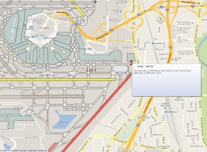KORD Visual NOTAM of TWY D8 Closure, Google Maps Overlay